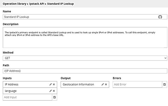 Standard IP Lookup Details